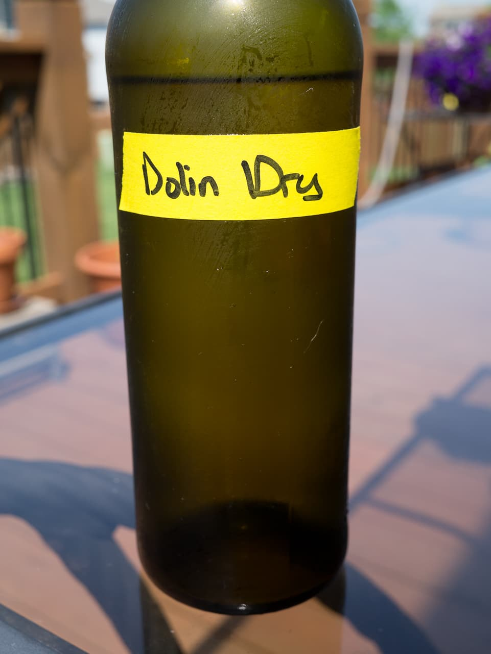 Dolin dry vermouth (decanted)