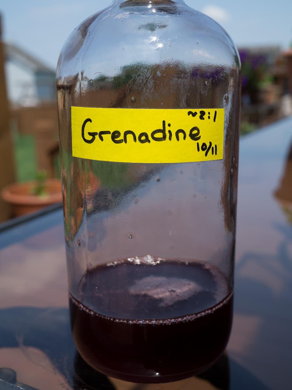 Homemade grenadine recipe