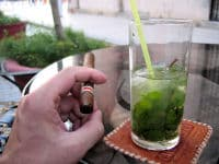 The cigar will last a lot longer than the Mojito.